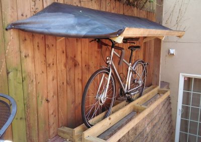 Cory and Jon's Bike Shelter & Patio