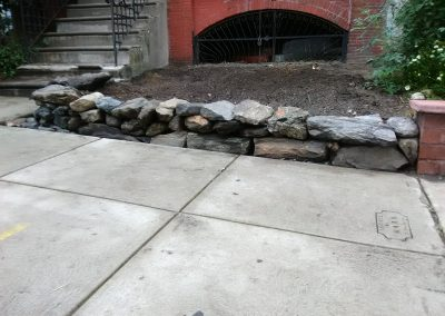 University City: Repurposed Wissahickon Schist Wall